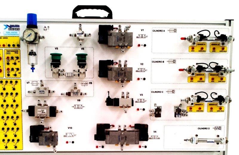 Bancada didática eletropneumática