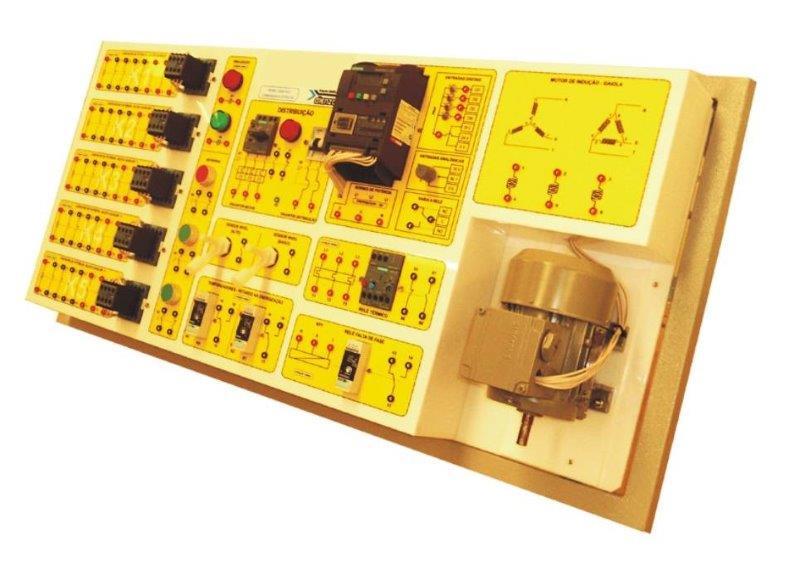 Painel didático de comandos elétricos